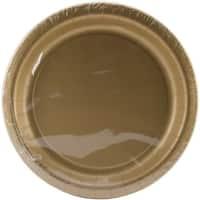 """Dinner Plates 8.75"""" 24/Pkg-Glittering Gold"""