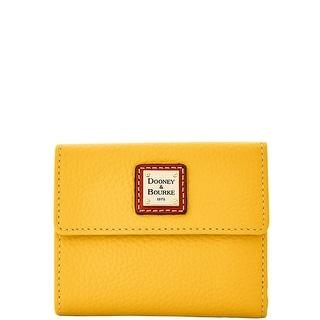 Dooney & Bourke Pebble Grain Small Flap Wallet (Introduced by Dooney & Bourke at $98 in Dec 2015) - Melon