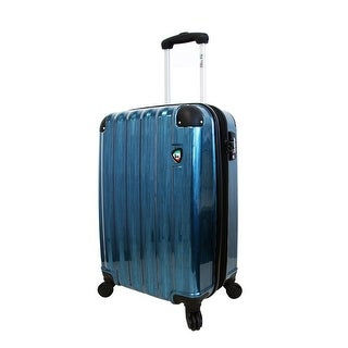 Mia Toro ITALY Spazzolato Lucido 21 Inch Hardside Spinner Carry On Luggage