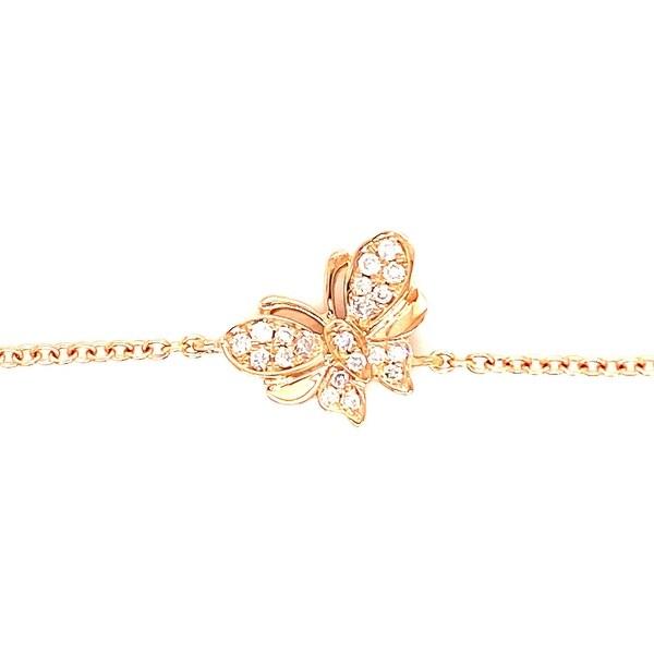 Kabella Gold Diamond Double Wing Butterfly Bracelet. Opens flyout.