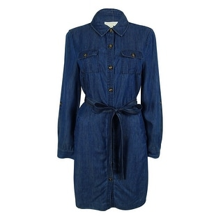Charter Club Women's Tab Sleeves Shirt Dress