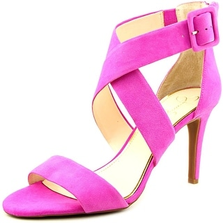 Jessica Simpson Liddy Women Open-Toe Suede Pink Heels