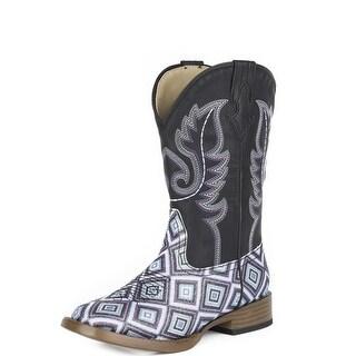 Roper Western Boots Girl Glitter Diamonds Black