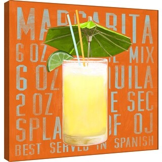 "PTM Images 9-100028  PTM Canvas Collection 12"" x 12"" - ""Margarita (Square)"" Giclee Liquor & Cocktails Art Print on Canvas"