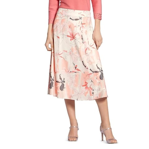 Basler Floral Print Skirt Rose Multi