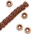 TierraCast Antiqued Copper Plated Pewter Rococo Beads 4mm (20) - Thumbnail 0