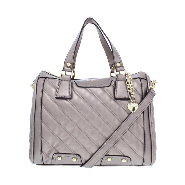 Juicy Couture Womens Between The Lines Satchel Handbag Faux Leather Quilted  - Medium f2a8b600c