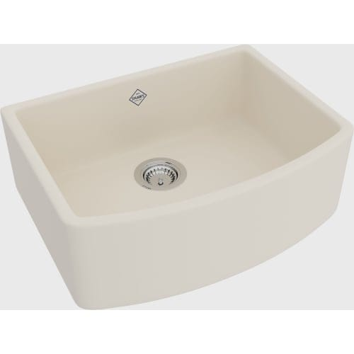 "Rohl RC3021 Shaws Waterside 27-1/2"" Single Basin Farmhouse Fireclay Apron Kitchen Sink"