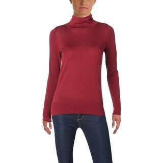 Lafayette 148 New York Womens Petites Pullover Top Wool Long Sleeve