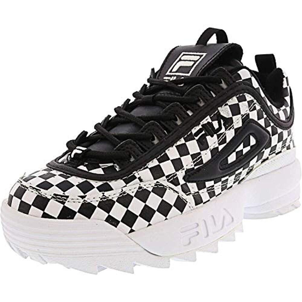Fila Women's Disruptor II Premium Sneakers, Peach BlushWhiteFila Red, 8.5 M US