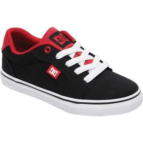 DC Shoes Boys' Anvil TX SE Black/Athletic Red Canvas