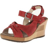 Wolky Womens Ixia Leather Open Toe Casual Platform Sandals - 11