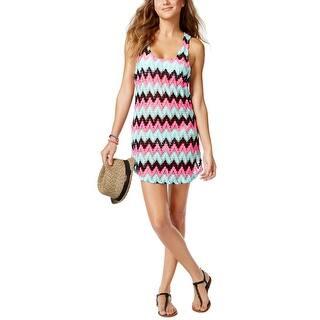 Miken Womens Chevron Print Crochet Cover Up Dress Multi-Color Small S|https://ak1.ostkcdn.com/images/products/is/images/direct/63a9386005b8d0e11996e3110d214fb3e26009b7/Miken-Womens-Chevron-Print-Crochet-Cover-Up-Dress-Multi-Color-Small-S.jpg?impolicy=medium