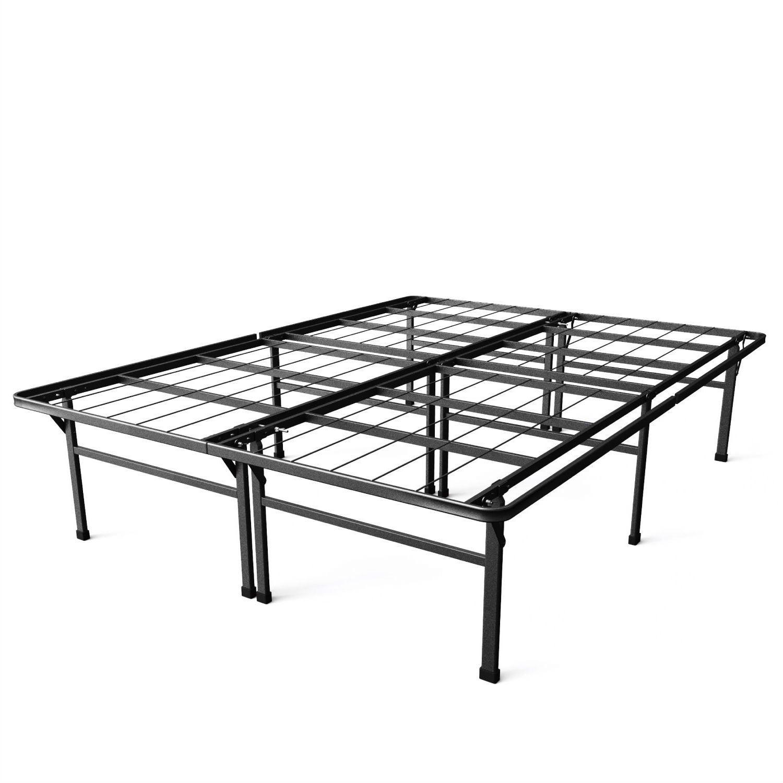 King Size 18 Inch High Rise Metal Platform Bed Frame Overstock 29063150