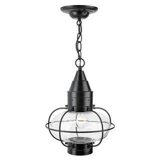 """Norwell Lighting 1508 Classic Onion Single Light 15"""" Tall Outdoor Pendant with Glass Shade"""