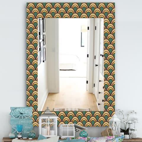 Designart 'Art Deco Pattern' Bohemian & Eclectic Mirror - Modern Wall Mirror