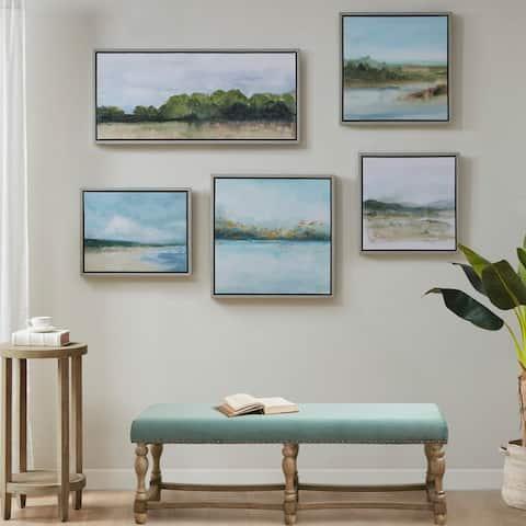 Vista Framed Embellished Canvas Gallery 5 Piece Set by Martha Stewart