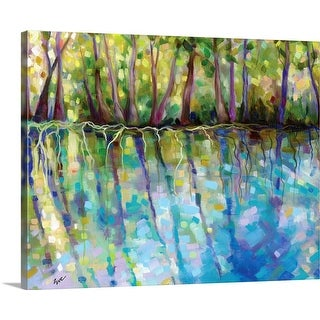 """Silver Springs Reflections"" Canvas Wall Art"