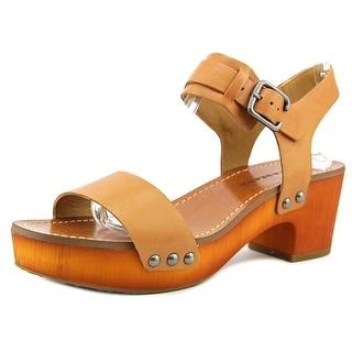 Lucky Brand Hannela Women Open Toe Leather Tan Sandals