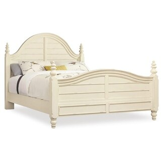 "Hooker Furniture 5900-90150 Sandcastle 66 1/4"" Wide Queen Size Rubberwood Coastal Style Panel Bed - couture white - n/a"