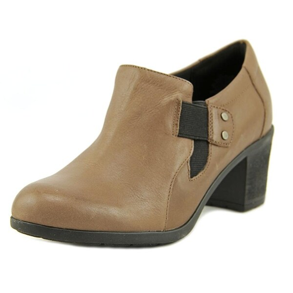 Easy Spirit Barral Women W Round Toe Leather Brown Bootie