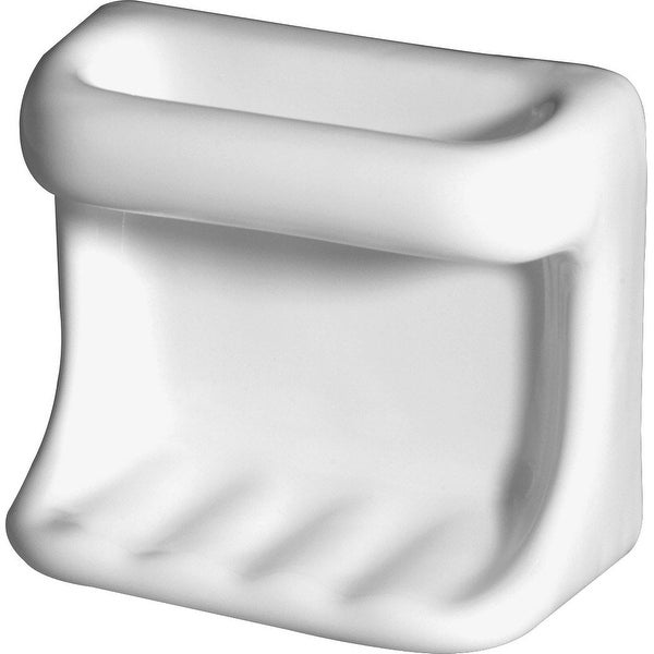 Daltile BA728 Wall Mounted Soap Dish with Washcloth Holder from the Bath Accesso