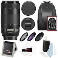 Canon EF 70-300mm f/4-5.6 IS II USM Lens w/ Essential Accessories Bundle