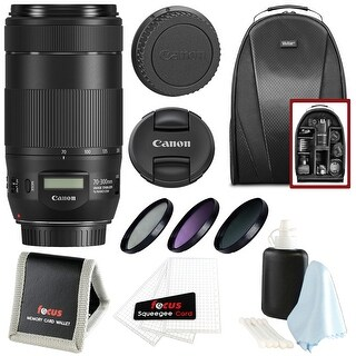 Canon EF 70-300mm f/4-5.6 IS II USM Lens w/ Essential Accessories Bundle