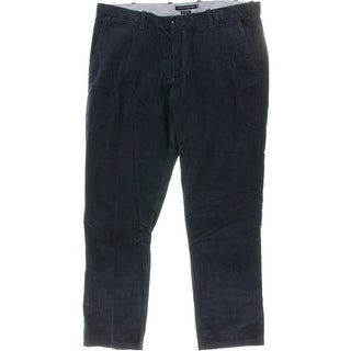 Tommy Hilfiger Mens Jacob Corduroy Pants Straight Leg Flat Front