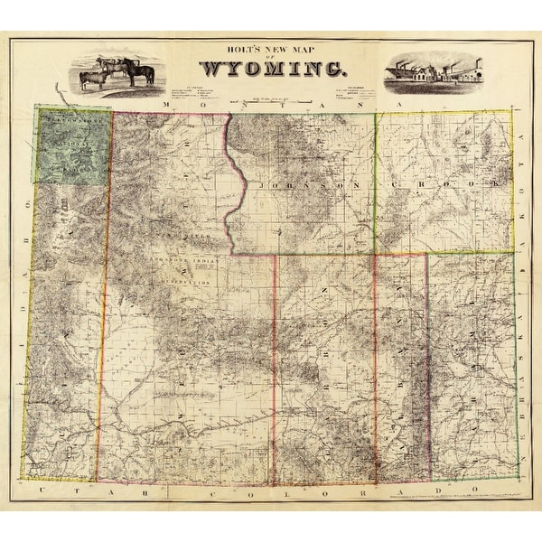 WY - (1883) - Panoramic Map (Light Switchplate Cover)