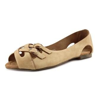 GC Shoes Maxi Women Open-Toe Synthetic Nude Flats