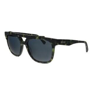 Just Cavalli JC757S 56V Green Havana Rectangular Sunglasses - No Size