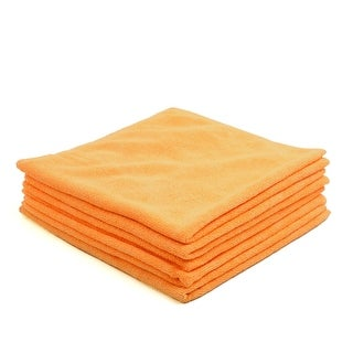 5pcs 300gsm 40 x 40cm Yellow Water Absorbing Microfiber Car Home Cleaning Towel