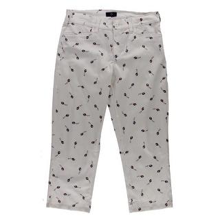 NYDJ Womens Karen Capri Pants Printed Slimming