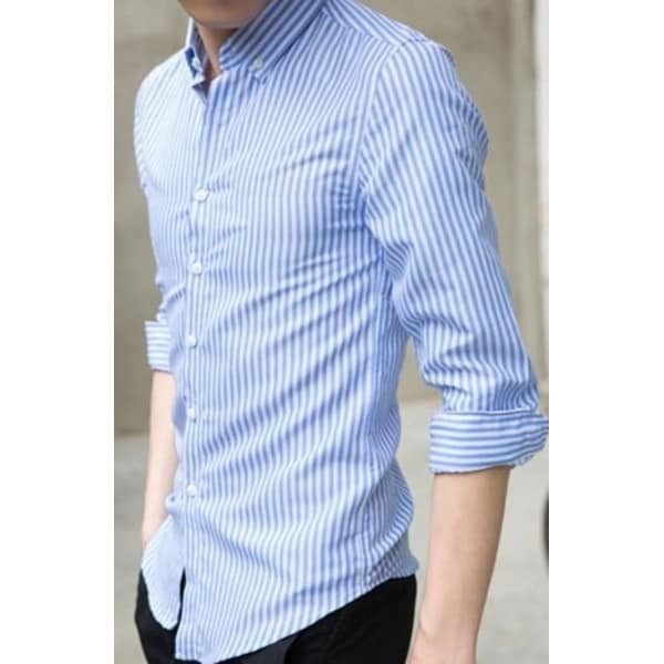 1ef7565562a Mens White Vertical Striped Shirt - White - L