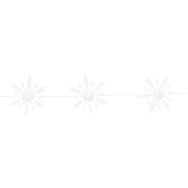 "60""L 5 Sophisticated White and Translucent Strand of Lighted Snowflakes"