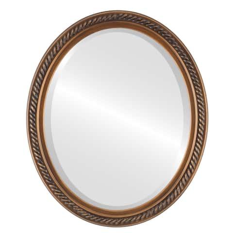 Santa Fe Framed Oval Mirror in Sunset Gold
