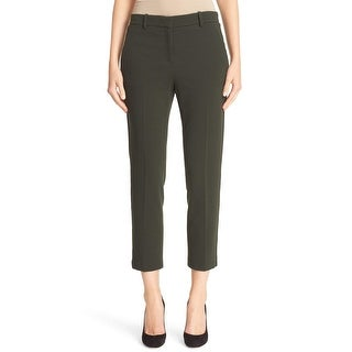Theory NEW Green Women's Size 10X27 Textured Dress Pants Stretch
