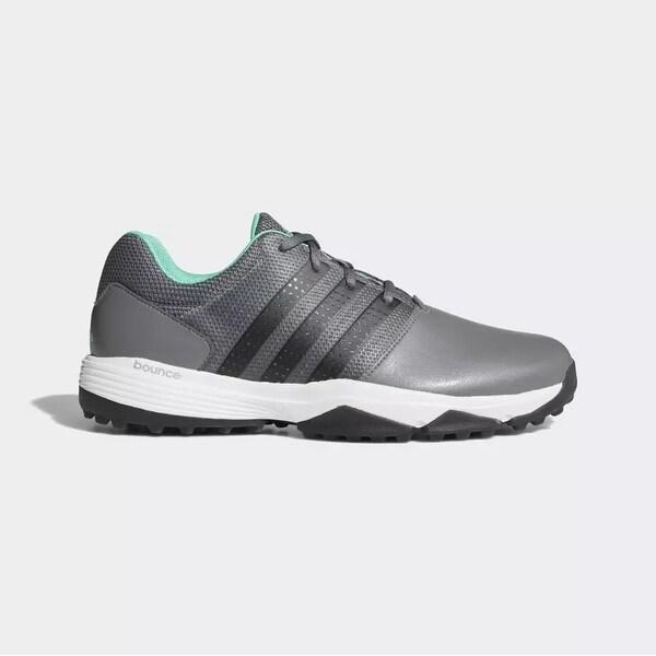 New Men's Adidas 360 Traxion Golf Shoes Grey/Black/Hi-Res Green ...