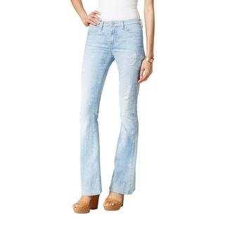 Calvin Klein Jeans Womens Flare Jeans Destroyed Classic Fit