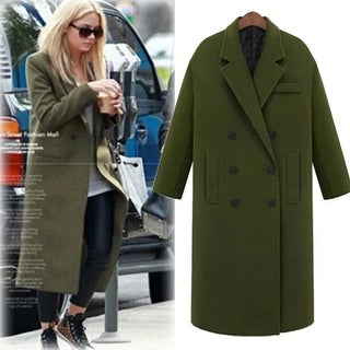 Plus Cotton Cashmere Woolen Coat