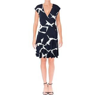 Ivanka Trump Womens Wrap Dress Jersey Printed (3 options available)