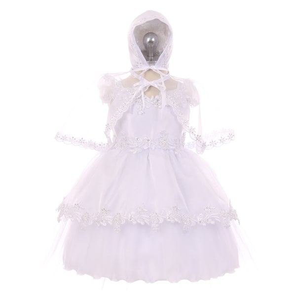 knit baby dress baptism baby  dress white bonnet Made to order knit christening dress Christening dress christening set