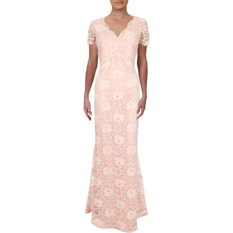 9e72fe5929a Ellen Tracy Womens Evening Dress Special Occasion Lace