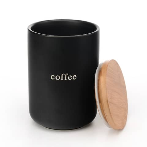 Signature Housewares Set of Three Canisters, Coffee, Tea, Sugar