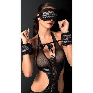 Floral Lace Wrist Cuffs And Eye Mask, Hoty Bedroom Bondage Set - One Size Fits most