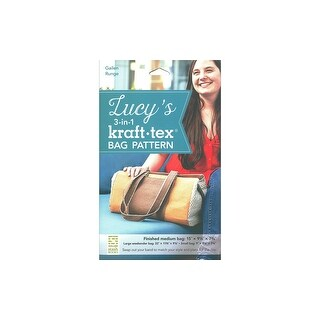 Stash By C&T Lucy's 3-in1 Kraft-Tex Bag Ptrn