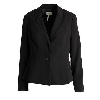 Laundry by Shelli Segal Womens Ponte Pleated Two-Button Blazer - 2