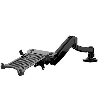"""FLEXIMOUNTS L01 Swivel 2 in 1 LCD Arm,Desk Mounts for 11""""-17.3"""" laptop with supplied Notebook tray or 10""""-27"""" Computer Monitor"""