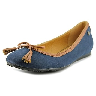 Maria Mare 65022 Women Round Toe Synthetic Blue Flats